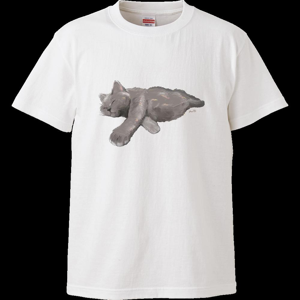 ATSUIねこ 文字なしver ハイクオリティーTシャツ