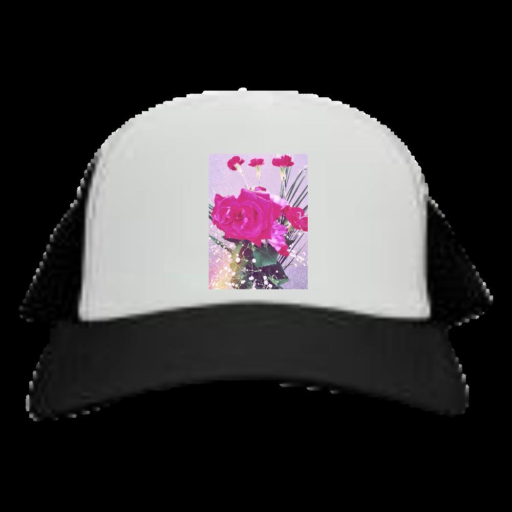 ピンクのシャクヤクphotoシリーズ メッシュキャップ