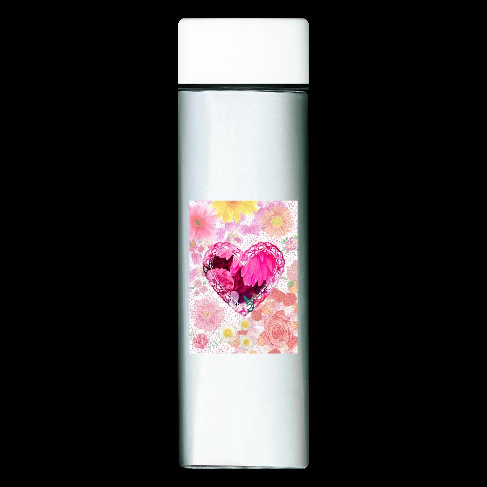 花柄ガーリーハートデザインシリーズ スクエアクリアボトル