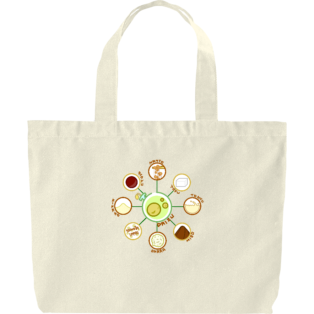 超食材大豆 ヘヴィーキャンバス トートバッグ(大) ヘヴィーキャンバス トートバッグ(大)