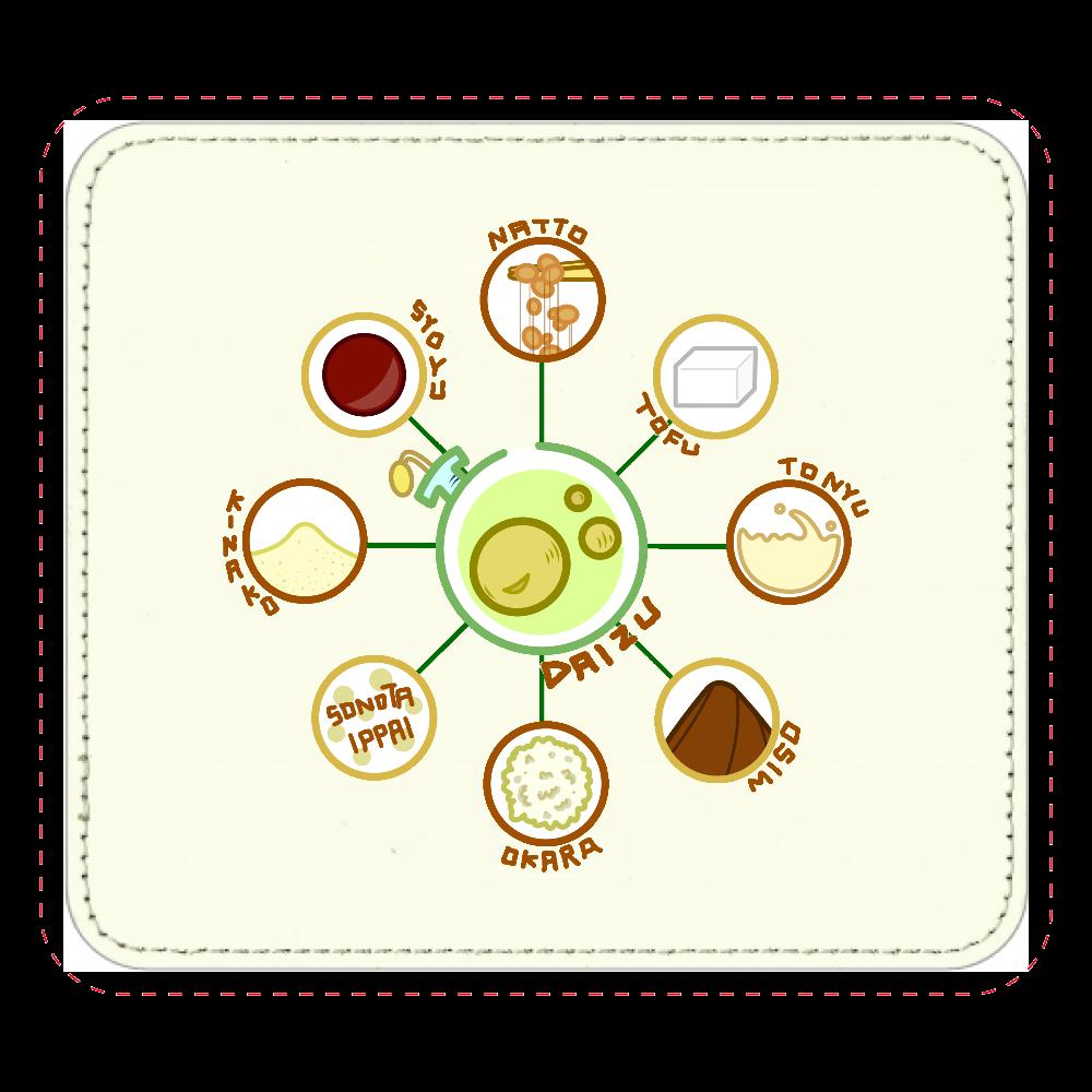 超食材大豆 レザーマウスパッド(スクエア) レザーマウスパッド(スクエア)