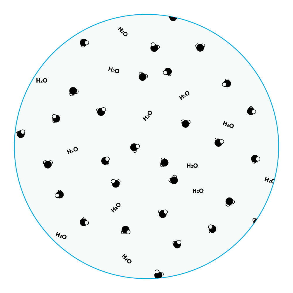 水分子 アクリルコースター(丸) アクリルコースター(丸)