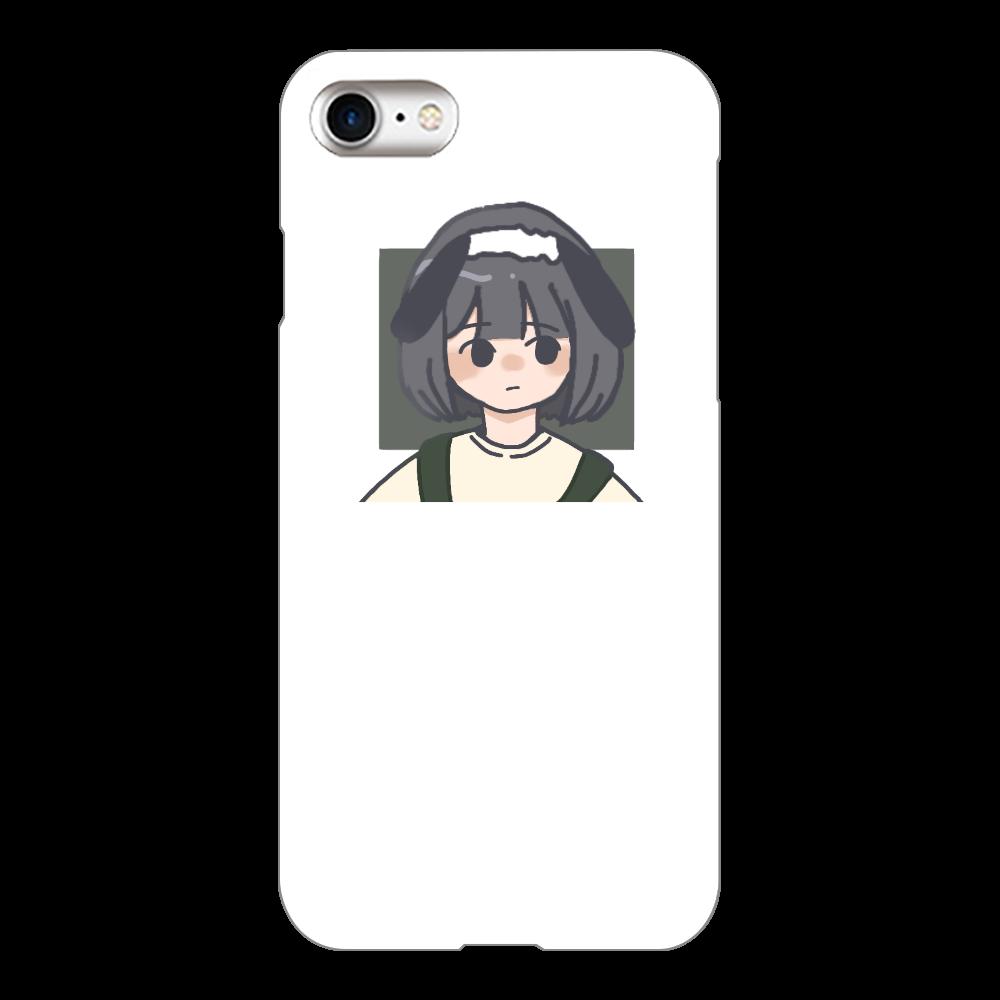 女の子iPhoneケース iPhone8(白)
