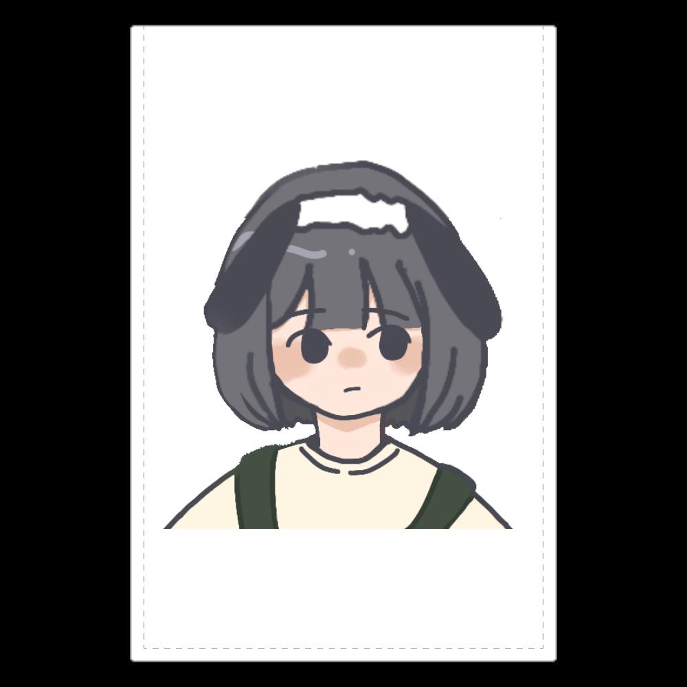 シンプル女の子 ソフトレザーミラー