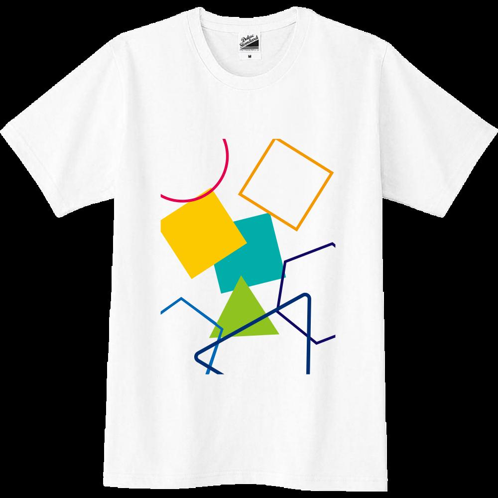 カラフルな模様のTシャツ スリムTシャツ