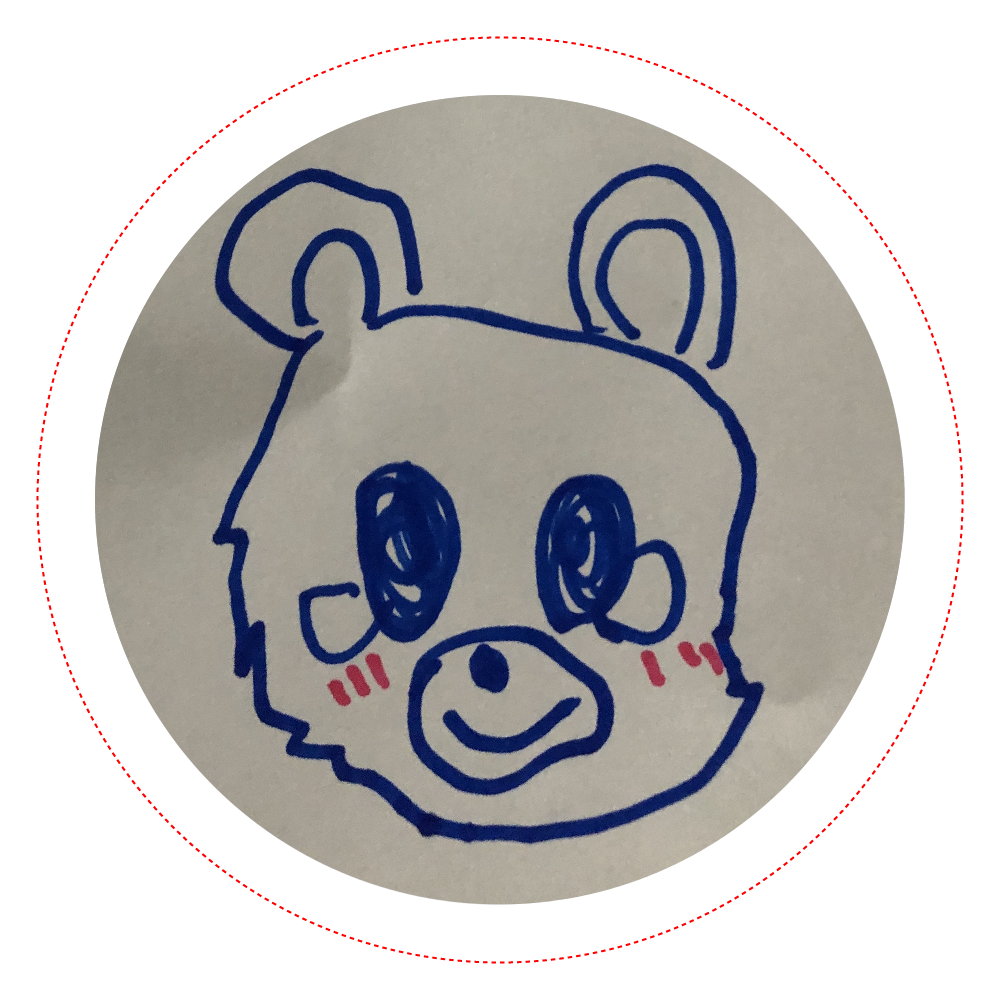 くまさんバッチ オリジナル缶バッジ(56mm)