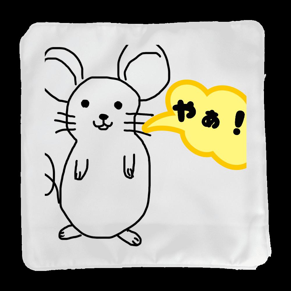 ネズミのイラスト入りクッションカバー クッションカバー(小)カバーのみ
