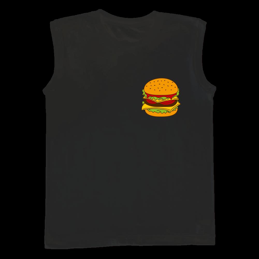 ハンバーガー ウィメンズ ノースリーブ Tシャツ