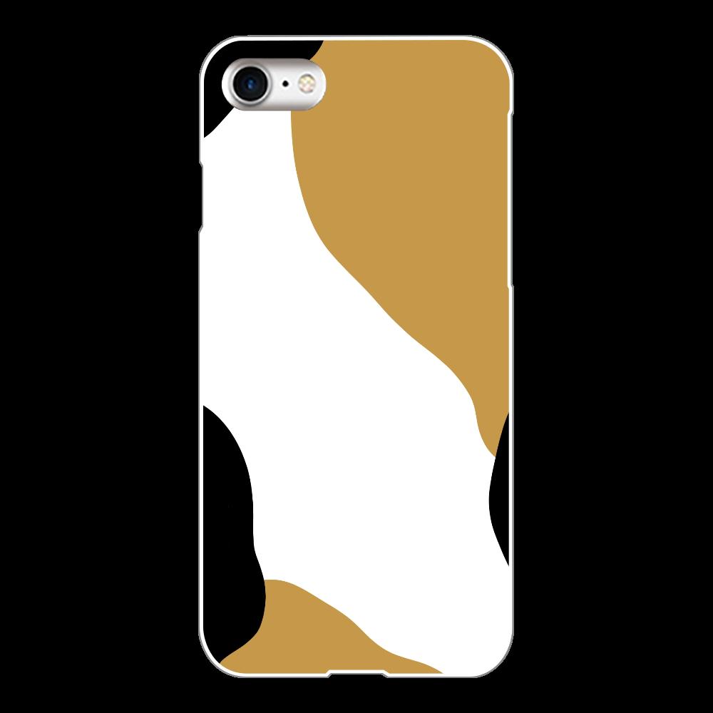 三毛猫柄iPhoneケース iPhone8(白)