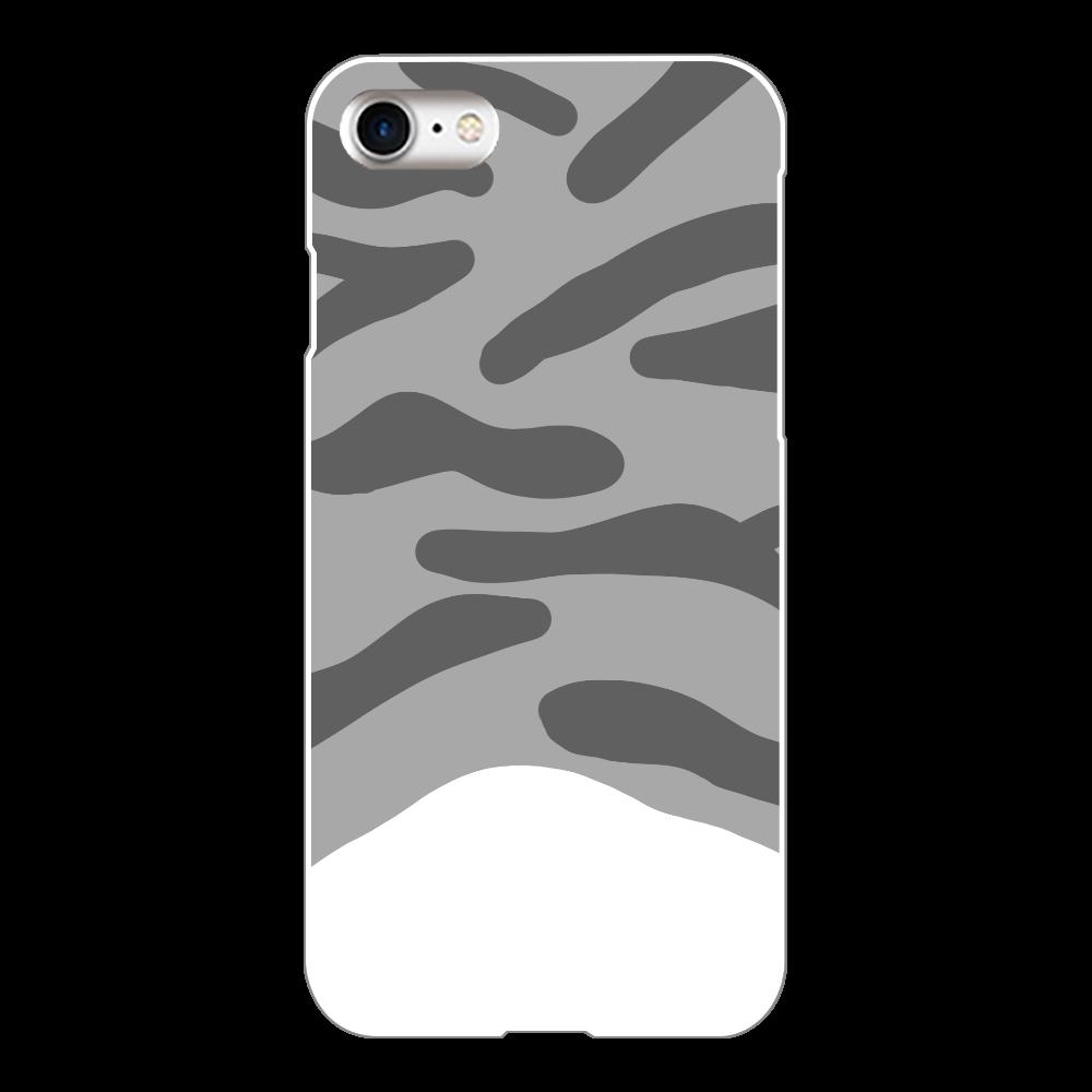 サバ白猫柄のiPhoneケース iPhone8(白)