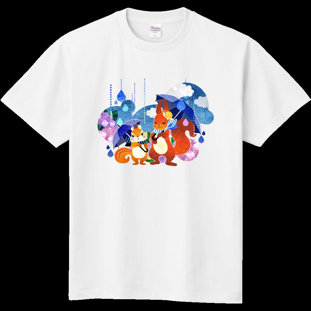 雨降りリスさんのTシャツ 定番Tシャツ