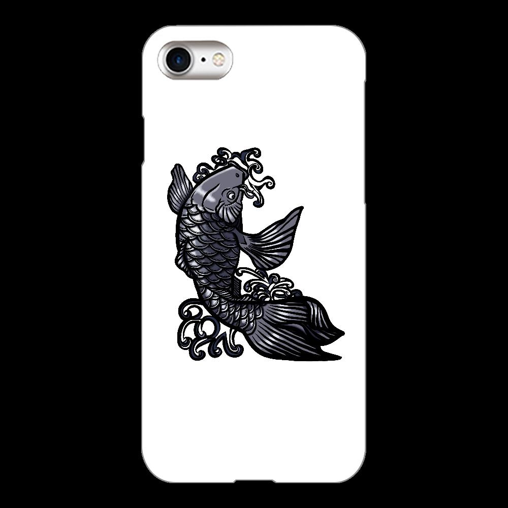 鯉の滝登り 黒 iPhone8(白)
