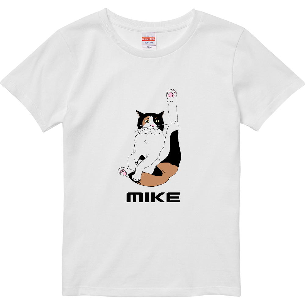 三毛猫 リラックス ハイクオリティーTシャツ(ガールズ)