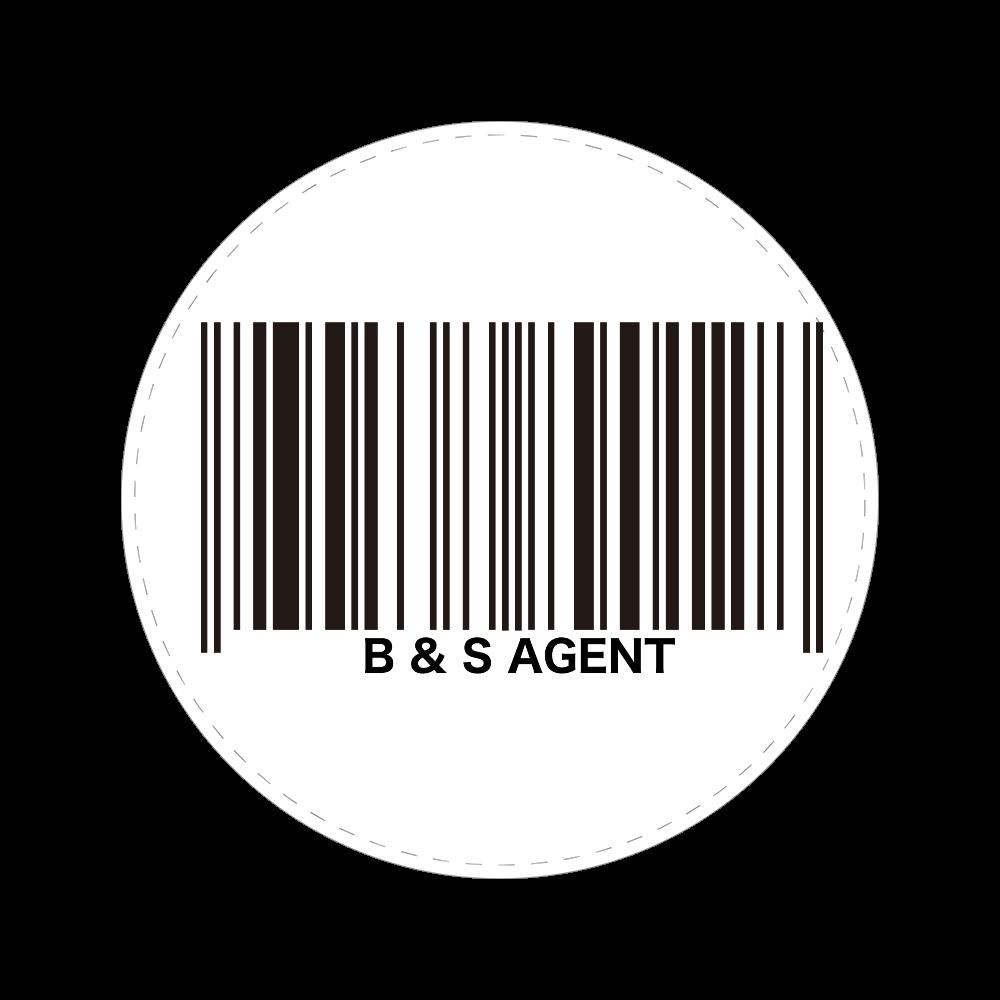 B&S AGENT 56㎜缶バッジ