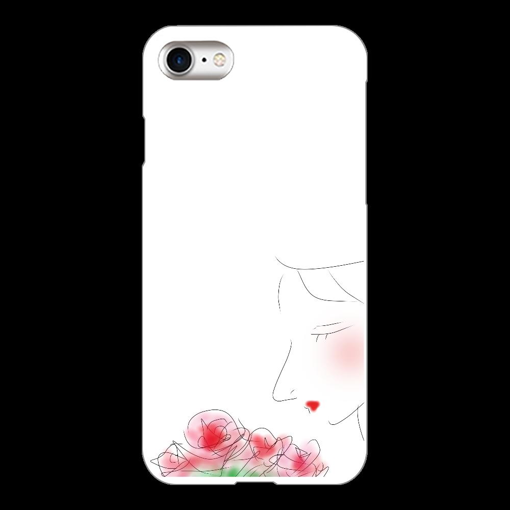 花束を iPhone8(白)