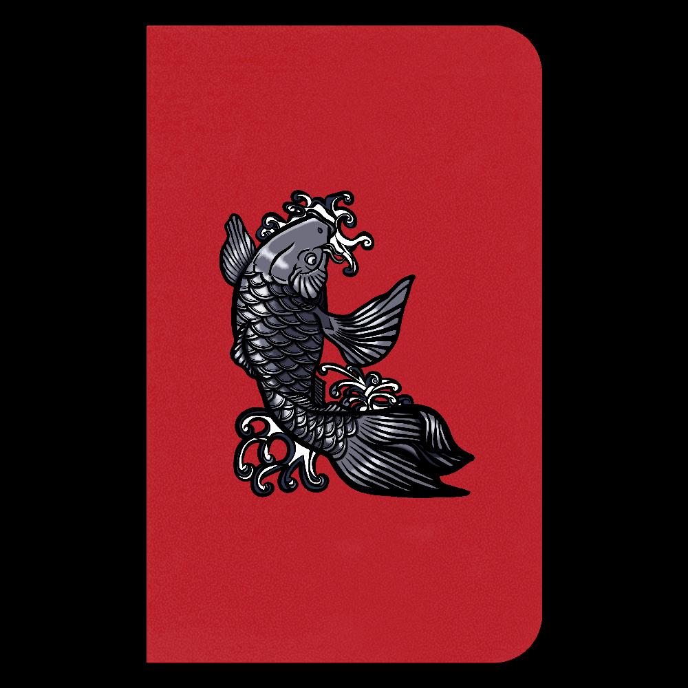 鯉の滝登り 黒 ハードカバーミニノート(罫線)