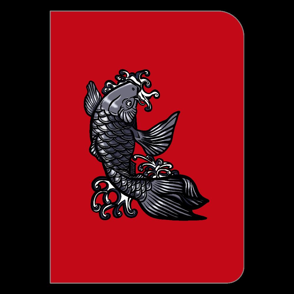 鯉の滝登り 黒 ハードカバーポケットノート