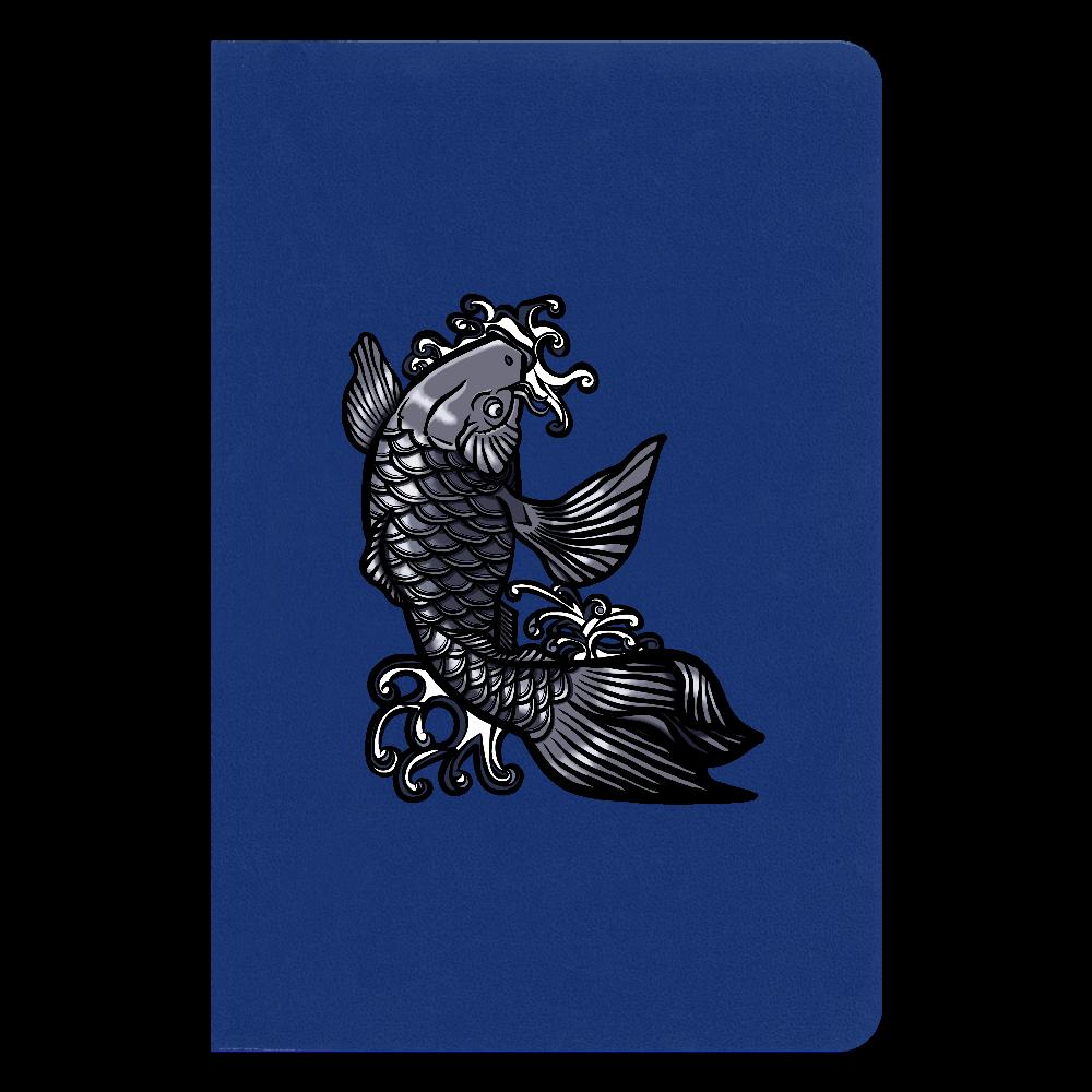 鯉の滝登り 黒 ハードカバーノート(罫線)