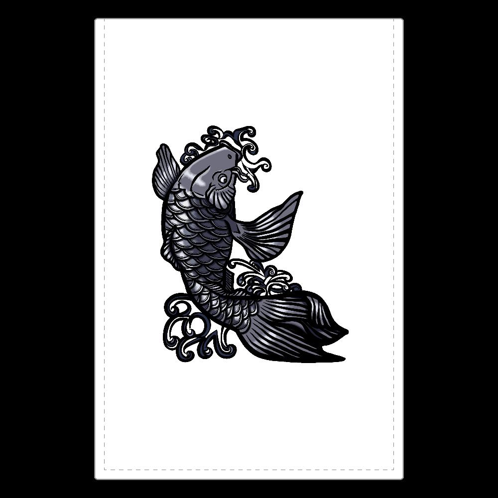 鯉の滝登り 黒 ソフトレザーミラー