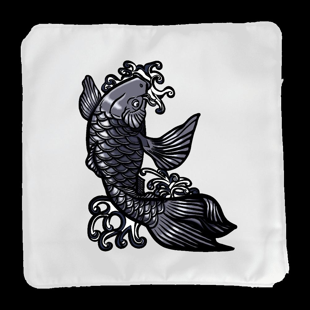 鯉の滝登り 黒 クッションカバー(小)カバーのみ