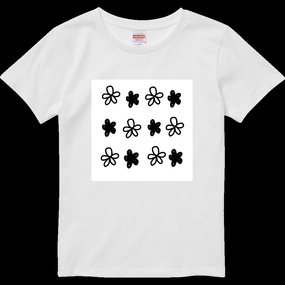花*花Tシャツ ハイクオリティーTシャツ(ガールズ)