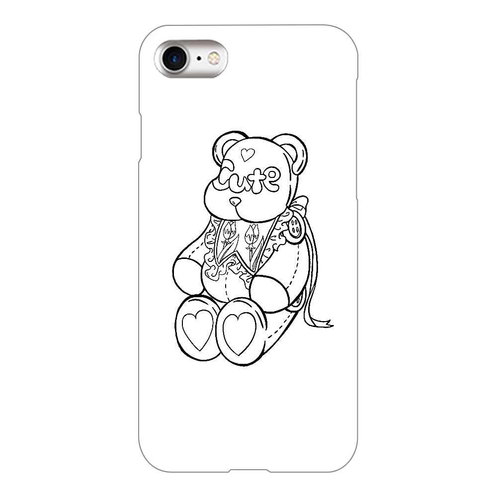 CUTEテディベア iPhone8(白)