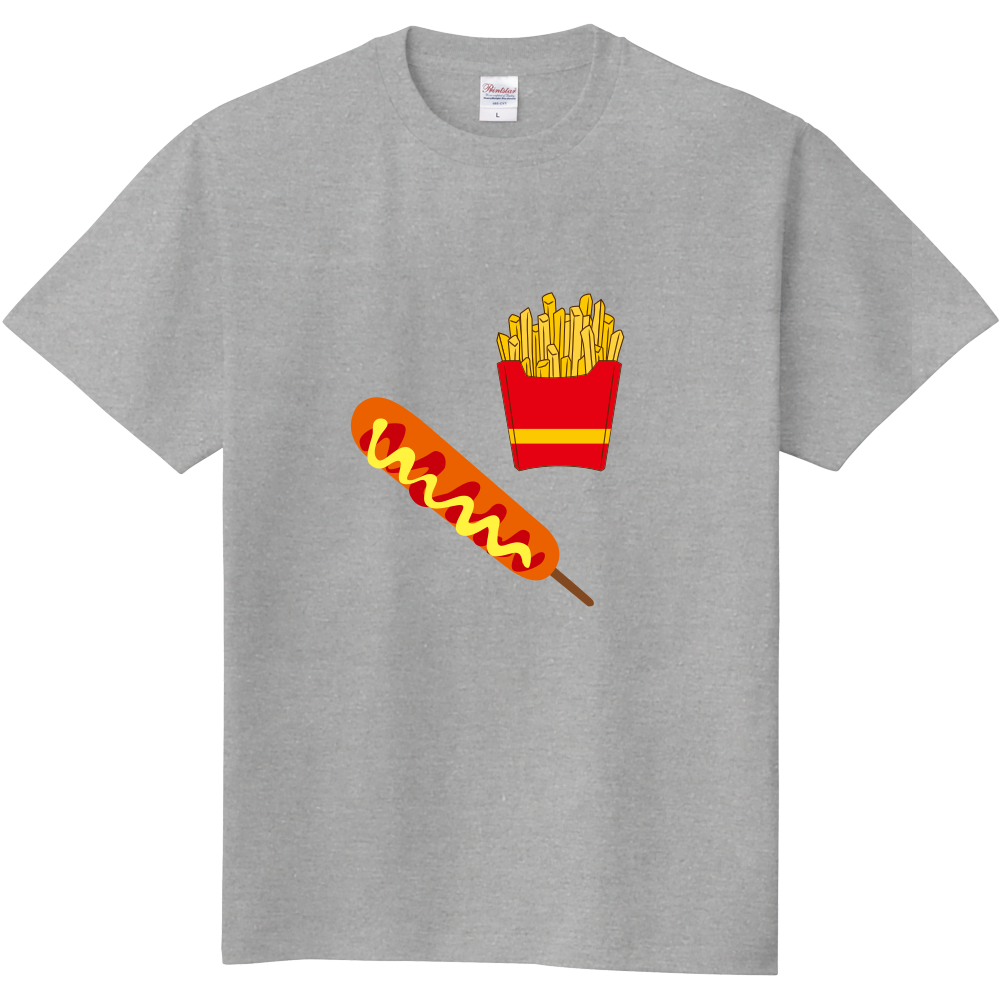 ポテトとフランク グレー 定番Tシャツ