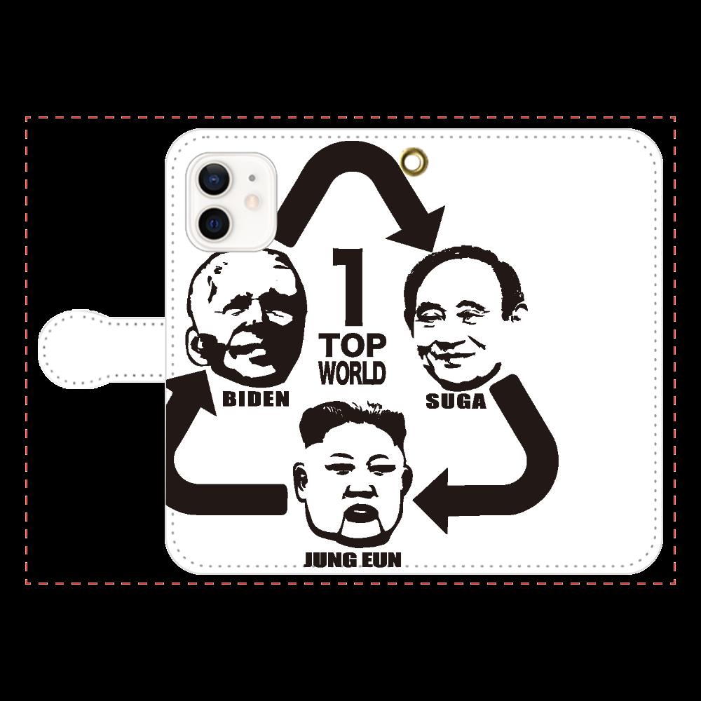 TOP -WORLD- iPhone12/12pro 手帳型スマホケース