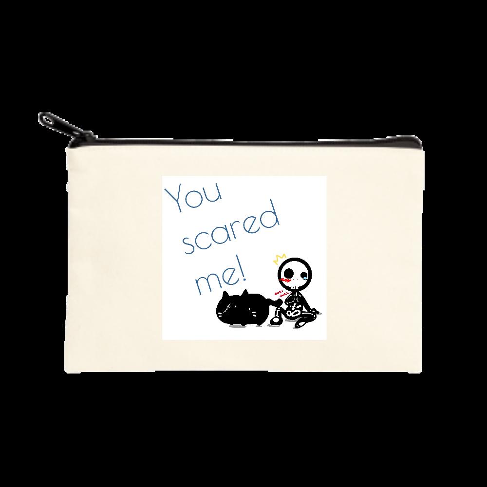 HALLOWEEN cat &skeleton ポーチ(S)