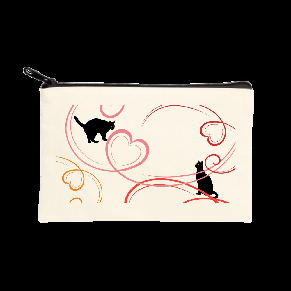 ネコはーと ポーチ(S)