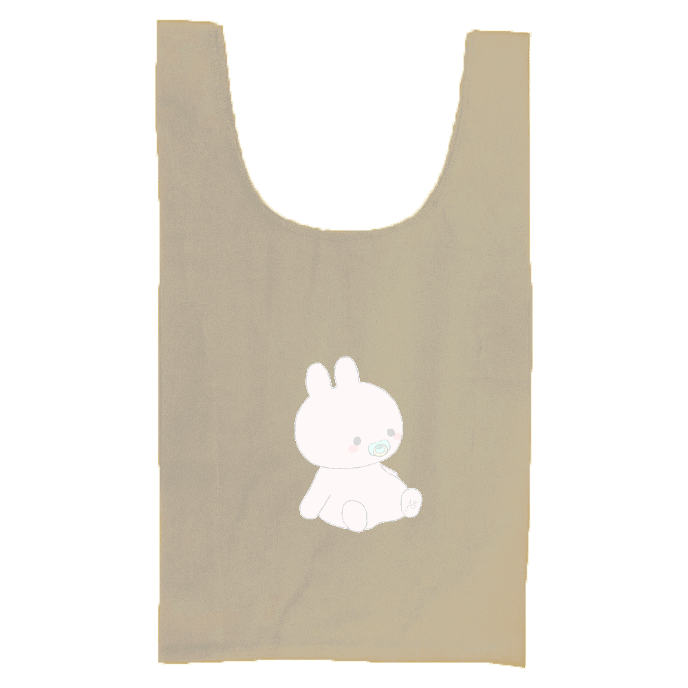 Baby Rabbit 厚手コットンマルシェバッグ(M)