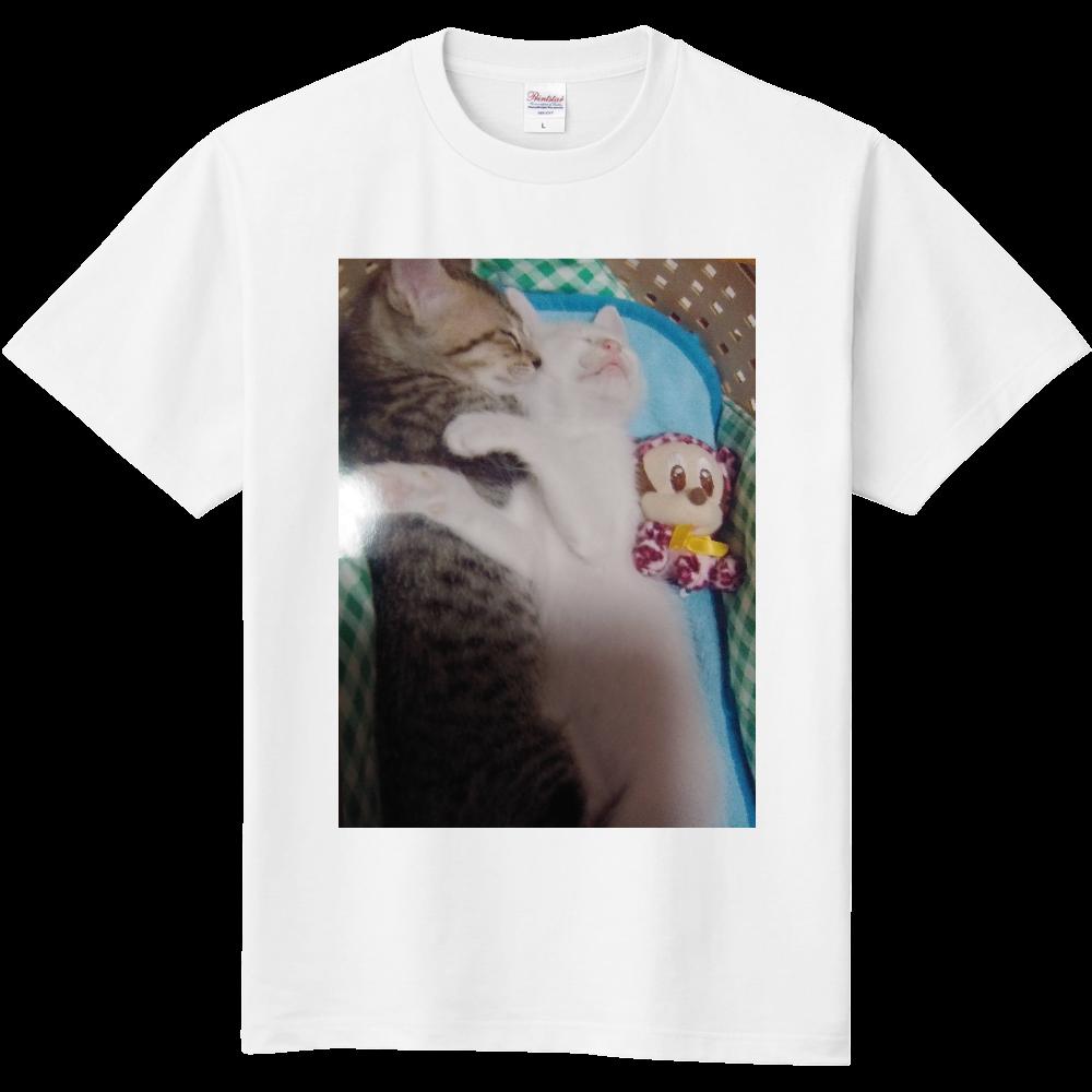 愛猫【みみ&りり】ロゴ♡ 定番Tシャツ