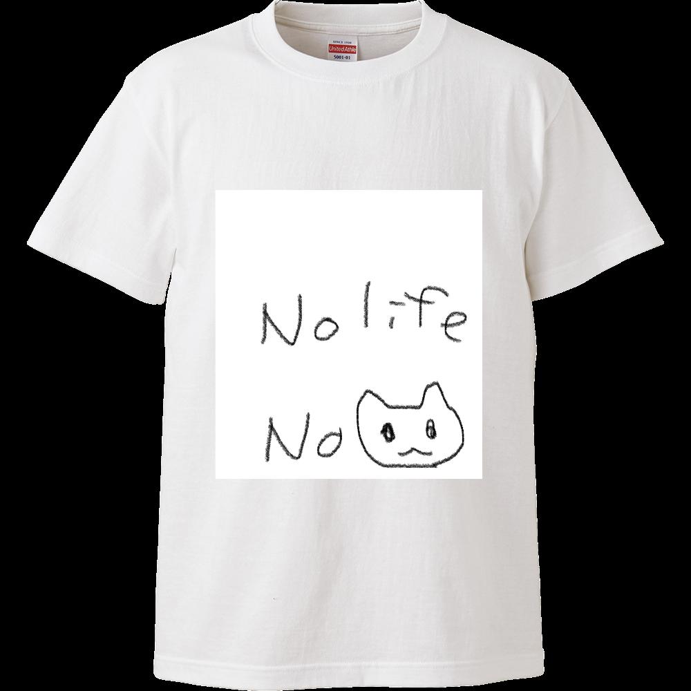 ノーライフ ノーにゃー ハイクオリティーTシャツ
