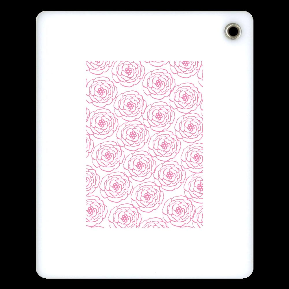 ピンクの花のスライドアクリルミラー 鏡  スライドアクリルミラー スクエア
