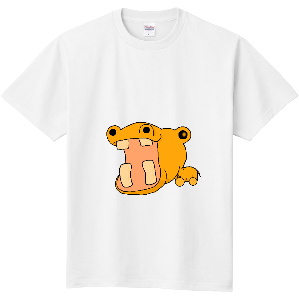 誇張されたオレンジカバさん 定番Tシャツ