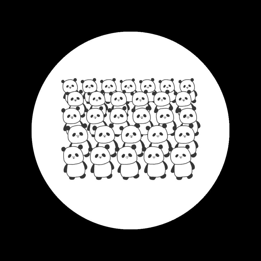 パンダミック 56㎜缶バッジ