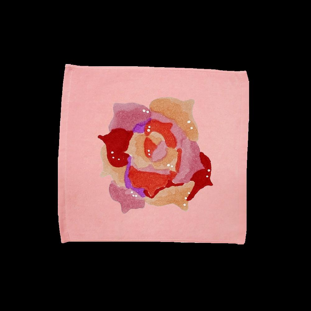 薔薇柄ハンドタオル ハンドタオル