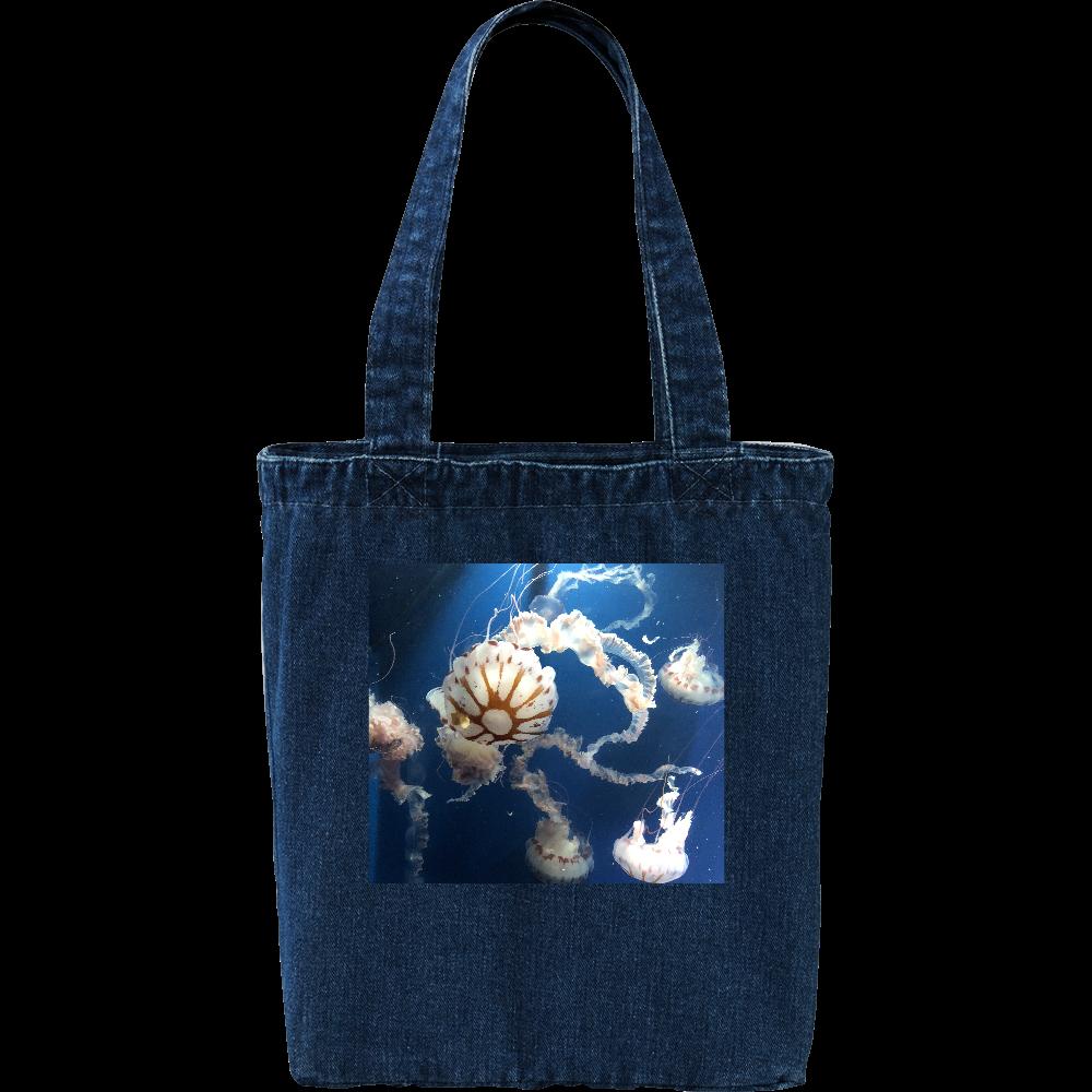 海の中クラゲのデニムトートバッグ デニム トートバッグ