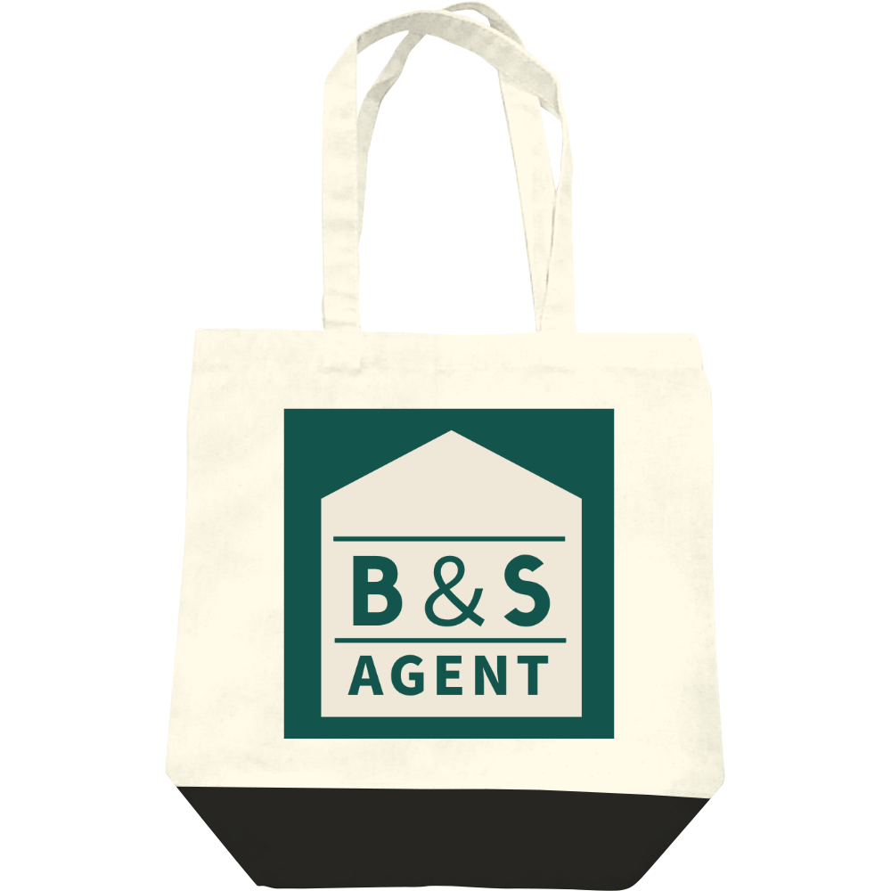 B&S AGENTのオフィシャルグッズ レギュラーキャンバストートバッグ(M)