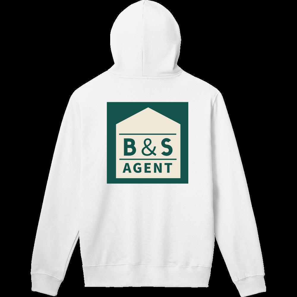 B&S AGENTのオフィシャルグッズ 軽量プルパーカー (長袖プリント)