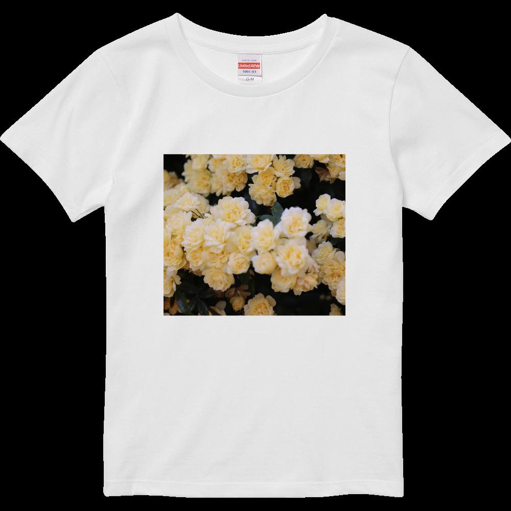 Flower  ハイクオリティーTシャツ(ガールズ)