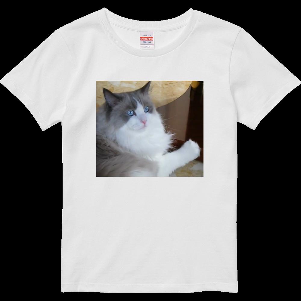 ラグドール猫 ハイクオリティーTシャツ(ガールズ)