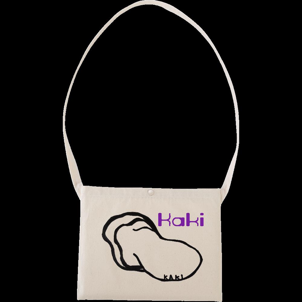 牡蠣バッグ❤ キャンバスサコッシュ