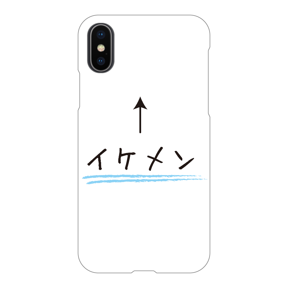 イケメン↑ iPhoneX/Xs(透明)