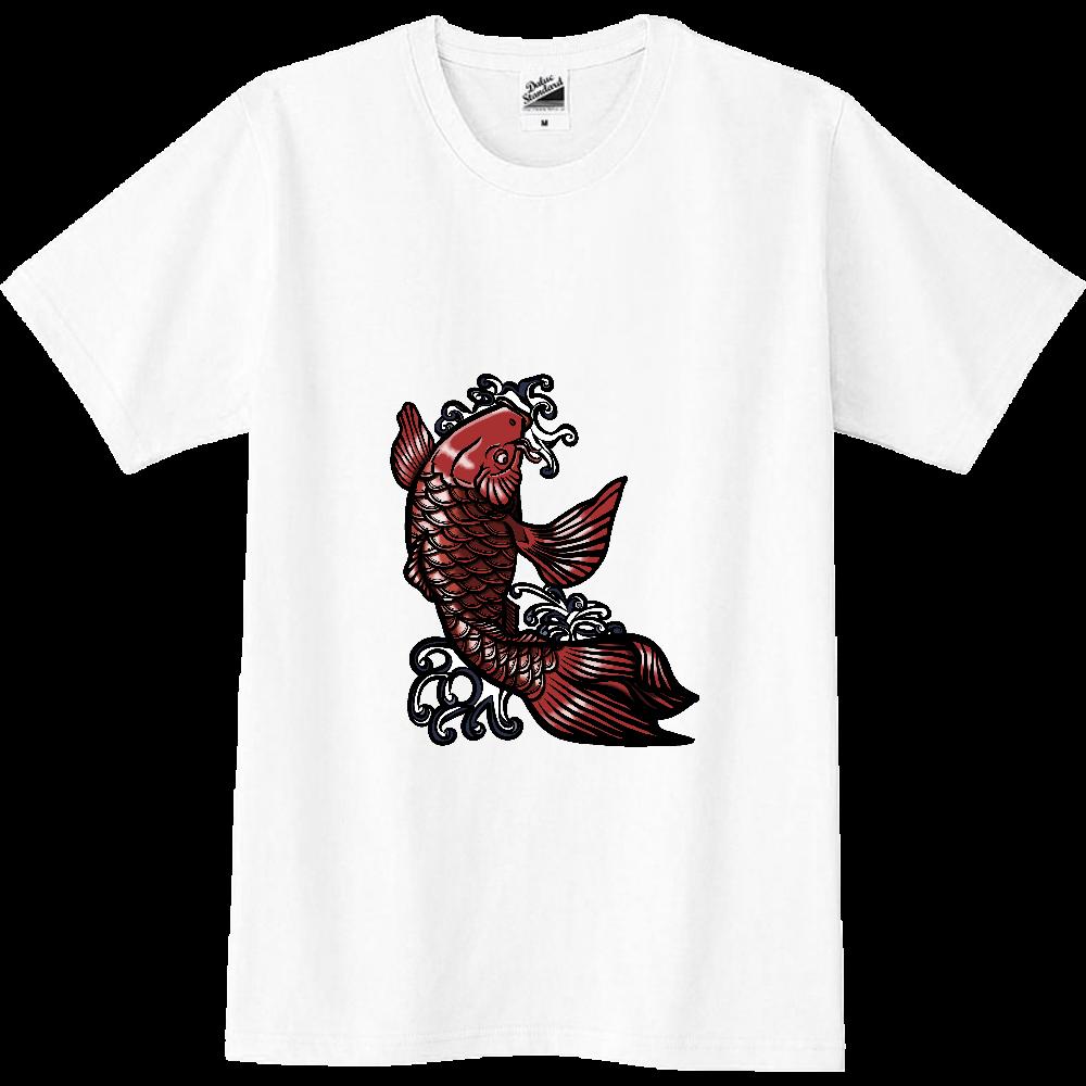 鯉の滝登り 赤 スリムTシャツ