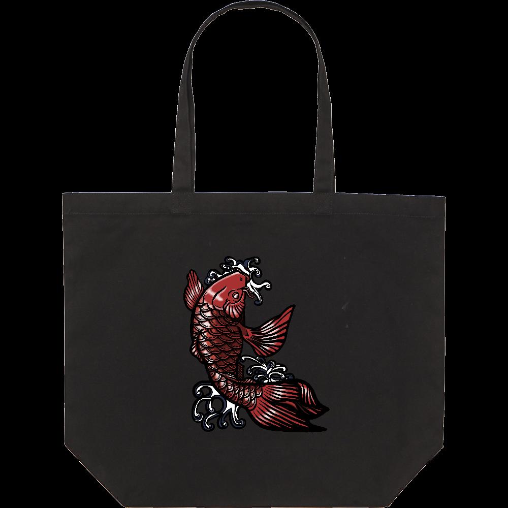 鯉の滝登り 赤 スタンダードキャンバストートバッグ(L)