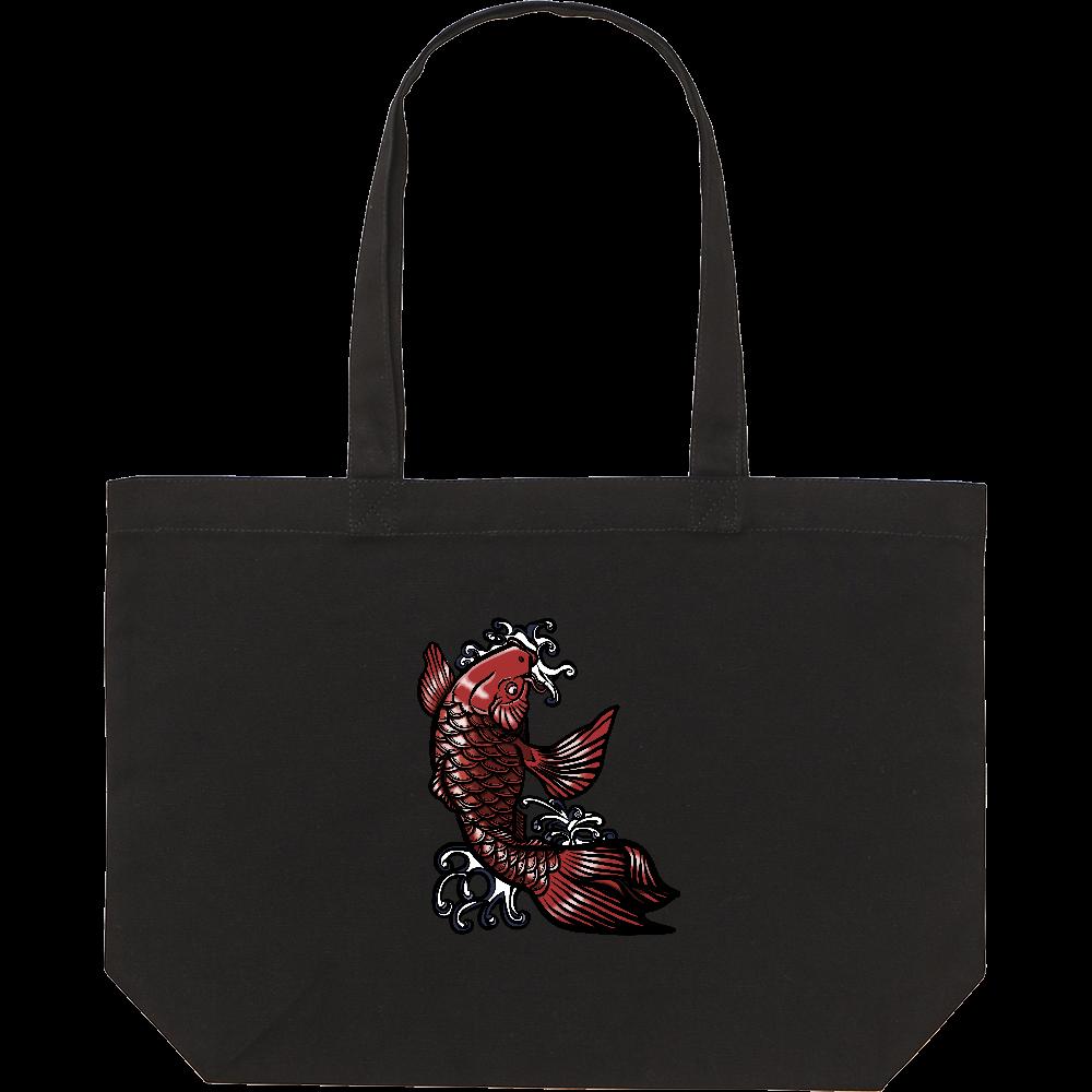 鯉の滝登り 赤 スタンダードキャンバストートバッグ(W)