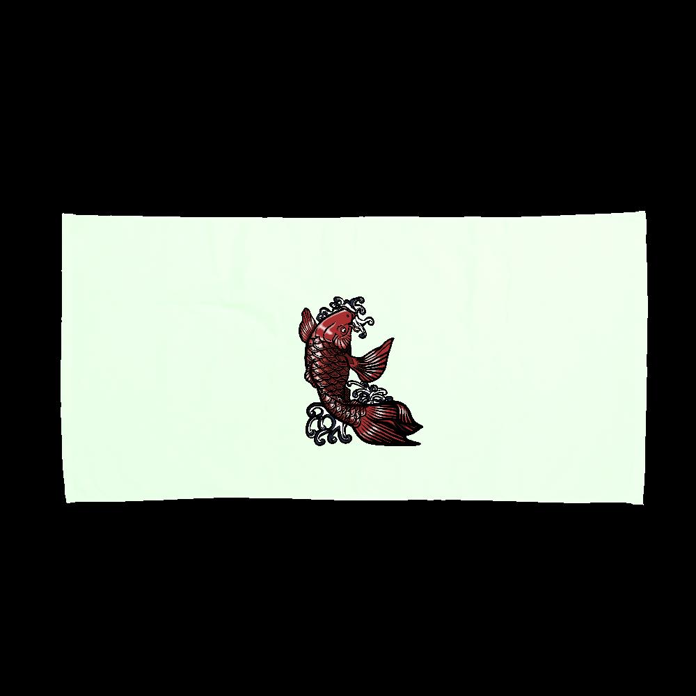 鯉の滝登り 赤 スポーツタオル
