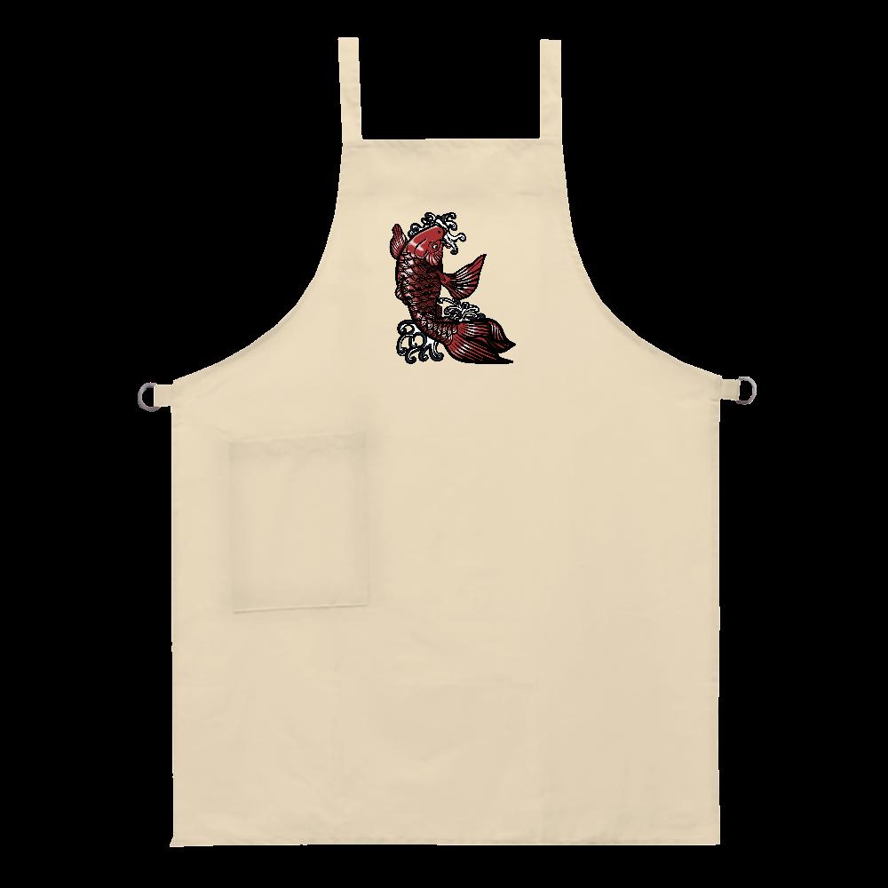 鯉の滝登り 赤 ベーシックエプロン