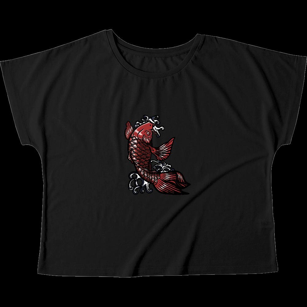 鯉の滝登り 赤 ウィメンズ ドルマン Tシャツ